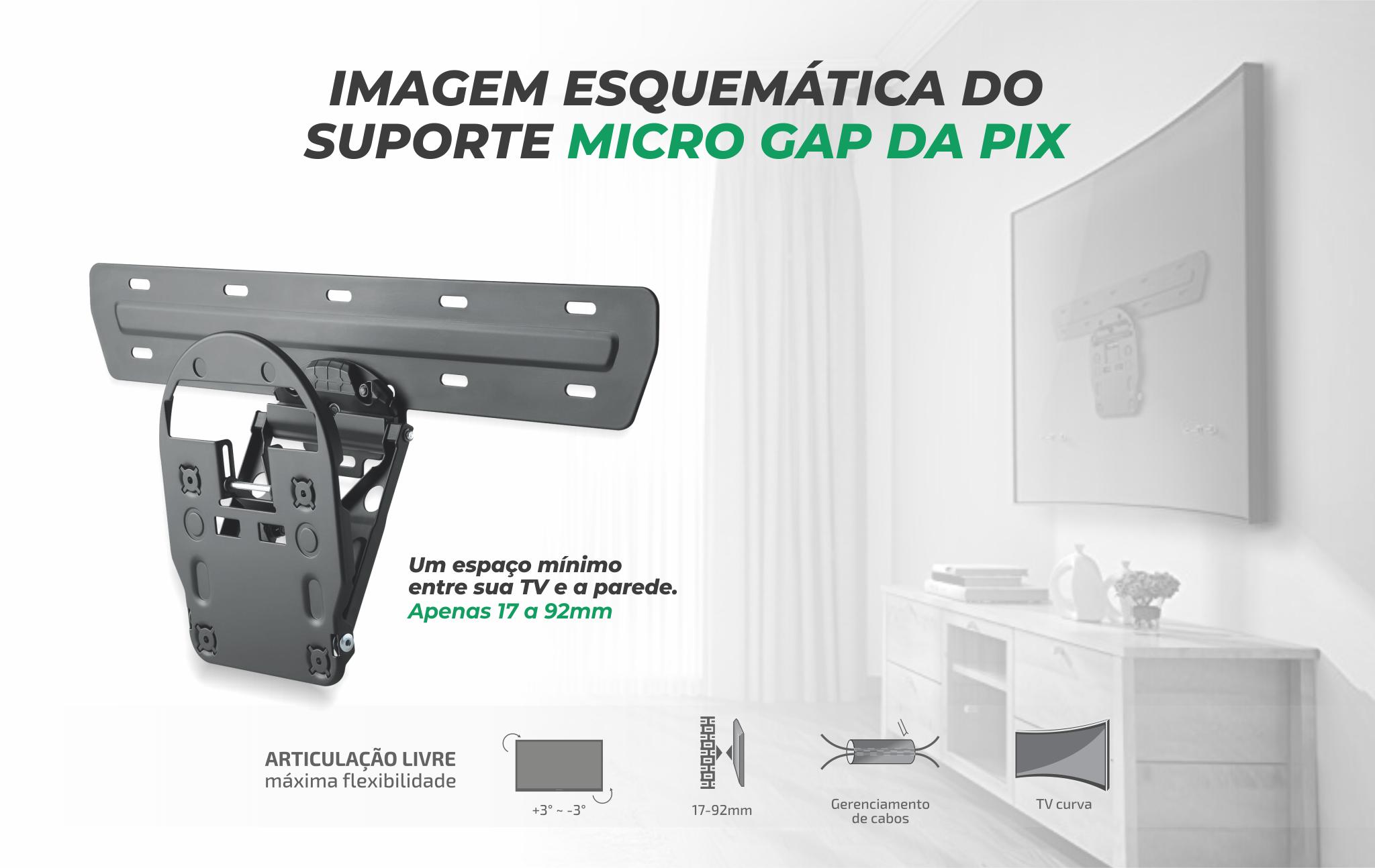 Suporte Micro Gap PIX