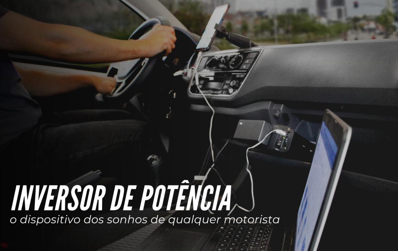 motorista usando inversor de potência